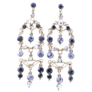38199-04 METAL AND CZECH CRYSTAL 72 X 24 MM EARRINGS