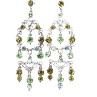 38199-05 METAL AND CZECH CRYSTAL 72 X 24 MM EARRINGS