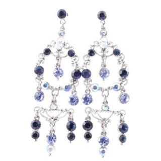 38199-06 METAL AND CZECH CRYSTAL 72 X 24 MM EARRINGS