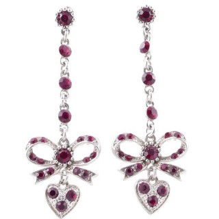 38200-01 METAL AND CZECH CRYSTAL 69 X 21 MM EARRINGS