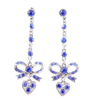 38200-03 METAL AND CZECH CRYSTAL 69 X 21 MM EARRINGS