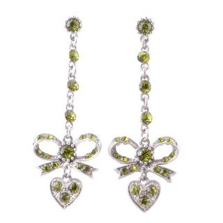 38200-05 METAL AND CZECH CRYSTAL 69 X 21 MM EARRINGS