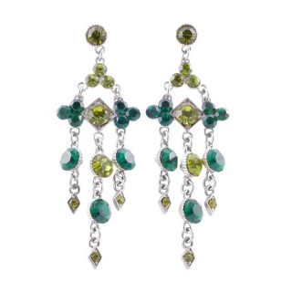 38201-03 METAL AND CZECH CRYSTAL 69 X 21 MM EARRINGS