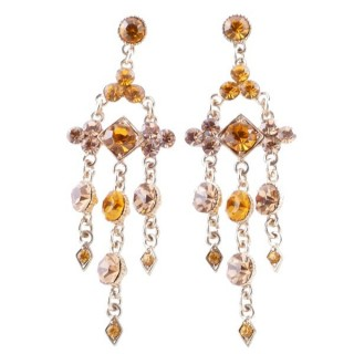 38201-05 METAL AND CZECH CRYSTAL 69 X 21 MM EARRINGS