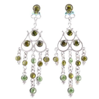 38202-02 METAL AND CZECH CRYSTAL 68 X 23 MM EARRINGS