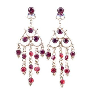 38202-03 METAL AND CZECH CRYSTAL 68 X 23 MM EARRINGS