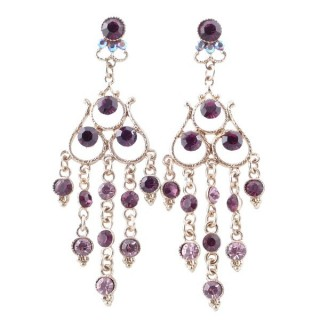 38202-04 METAL AND CZECH CRYSTAL 68 X 23 MM EARRINGS