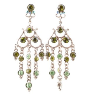 38202-07 METAL AND CZECH CRYSTAL 68 X 23 MM EARRINGS