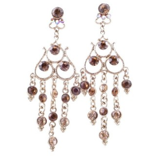38202-08 METAL AND CZECH CRYSTAL 68 X 23 MM EARRINGS