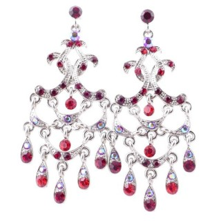 38203-06 METAL AND CZECH CRYSTAL 68 X 28 MM EARRINGS