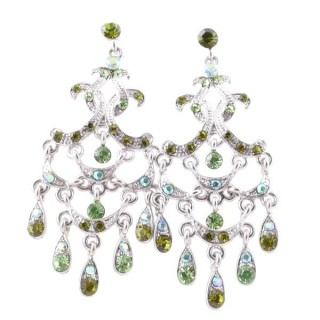 38205-09 METAL AND CZECH CRYSTAL 66 X 29 MM EARRINGS