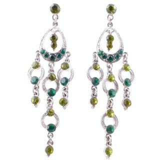 38210-02 METAL AND CZECH CRYSTAL 74 X 22 MM EARRINGS