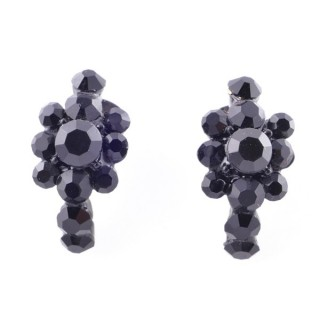 38207-04 METAL AND CZECH CRYSTAL 20 X 11 MM EARRINGS