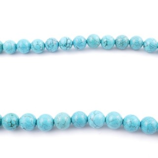 42699 40 CM STRING OF 10 MM TURQUOISE STONE BEADS