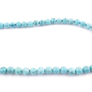 42698 40 CM STRING OF 10 MM TURQUOISE STONE BEADS