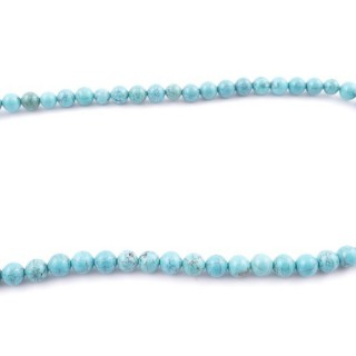 42697 40 CM STRING OF 10 MM TURQUOISE STONE BEADS