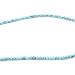 42696 40 CM STRING OF 4 MM TURQUOISE STONE BEADS