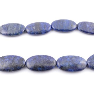 42144 40 CM STRING OF 20 X 35 MM DYED LAPIS LAZULI STONE BEADS