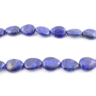 42141 40 CM STRING OF 15 X 18 MM DYED LAPIS LAZULI STONE BEADS