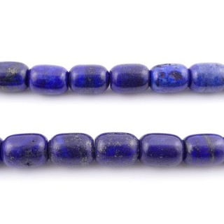 42138 40 CM STRING OF 12 X 16 MM DYED LAPIS LAZULI STONE BEADS