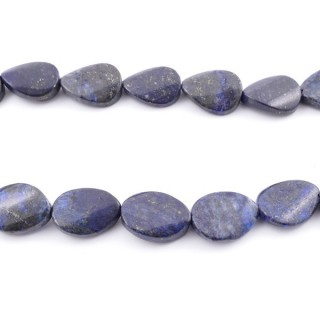 42135 40 CM STRING OF 15 X 20 MM DYED LAPIS LAZULI STONE BEADS