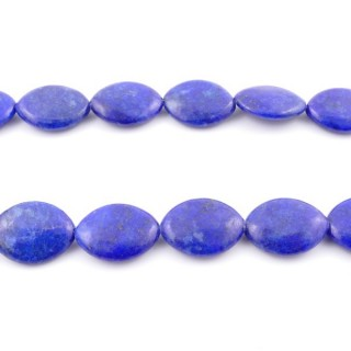 42133 40 CM STRING OF 16 X 20 MM DYED LAPIS LAZULI STONE BEADS