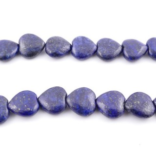 42134 40 CM STRING OF 14 X 15 MM DYED LAPIS LAZULI STONE BEADS