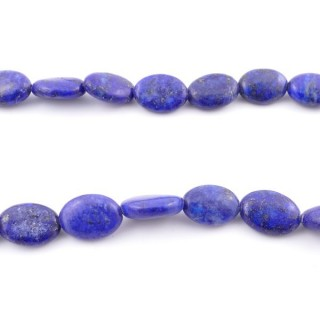 42128 40 CM STRING OF 10 X 14 MM DYED LAPIS LAZULI STONE BEADS
