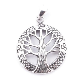 51119 STERLING SILVER TREE OF LIFE 20 MM PENDANT