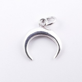 55280 STERLING SILVER 11 MM INVERTED MOON SHAPED PENDANT
