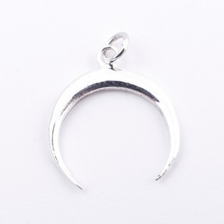 55281 STERLING SILVER 17 MM INVERTED MOON SHAPED PENDANT