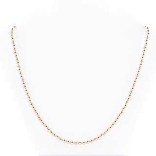 36484 STERLING SILVER 42 + 4 CM GOLDEN NECKLACE WITH 4 MM BALLS