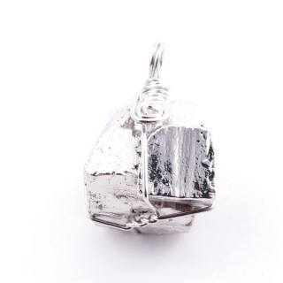 36989-02 PYRITE PENDANT MADE WITH FASHION JEWELRY WIRE APPROXIMATELY 2 CM