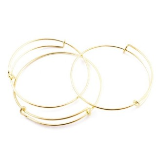 29057-02 PACK OF 3 ADJUSTABLE METAL FASHION JEWELLERY BANGLES