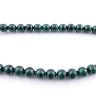 41878 40 CM STRING OF 12 MM NATURAL MALACHITE BEADS
