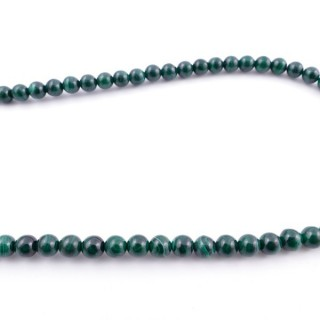41876 40 CM STRING OF 7 TO 8 MM NATURAL MALACHITE BEADS
