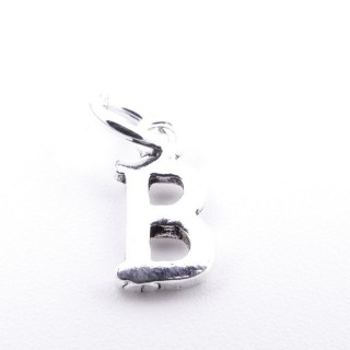55293-02 LETTER SHAPED STERLING SILVER 1 CM CHARM