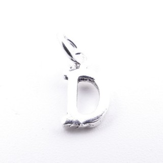 55293-04 LETTER SHAPED STERLING SILVER 1 CM CHARM