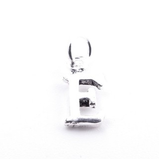 55293-05 LETTER SHAPED STERLING SILVER 1 CM CHARM