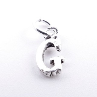 55293-07 LETTER SHAPED STERLING SILVER 1 CM CHARM