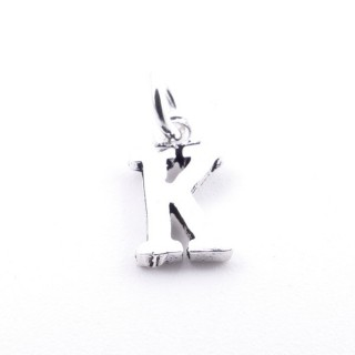 55293-11 LETTER SHAPED STERLING SILVER 1 CM CHARM