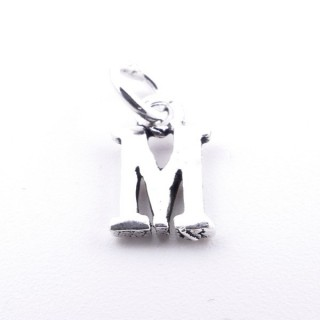 55293-13 LETTER SHAPED STERLING SILVER 1 CM CHARM