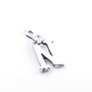 55293-14 LETTER SHAPED STERLING SILVER 1 CM CHARM