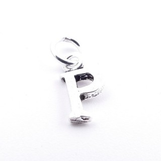 55293-16 LETTER SHAPED STERLING SILVER 1 CM CHARM