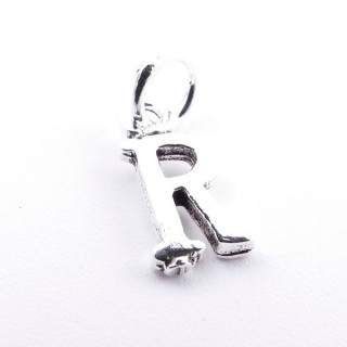 55293-18 LETTER SHAPED STERLING SILVER 1 CM CHARM
