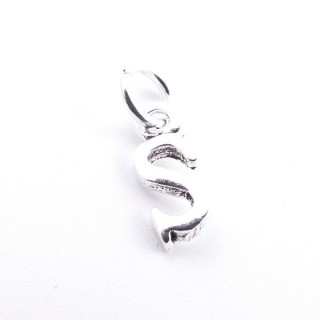 55293-19 LETTER SHAPED STERLING SILVER 1 CM CHARM