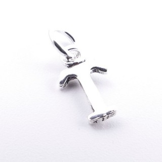 55293-20 LETTER SHAPED STERLING SILVER 1 CM CHARM