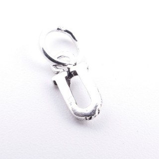 55293-21 LETTER SHAPED STERLING SILVER 1 CM CHARM