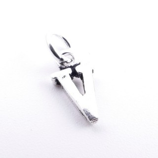 55293-22 LETTER SHAPED STERLING SILVER 1 CM CHARM