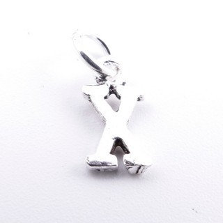 55293-24 LETTER SHAPED STERLING SILVER 1 CM CHARM